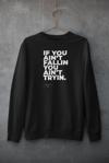 Sweatshirt - If you ain't fallin you ain't tryin