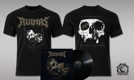 "Image of RUINAS ""Ikonoklasta"" T-shirt + LP bundle"