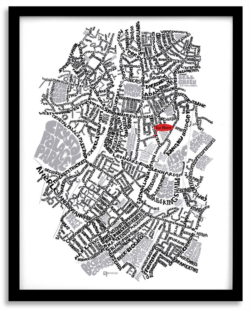 Image of Sydenham SE26, Penge & Anerley SE20  - SE London Type Map