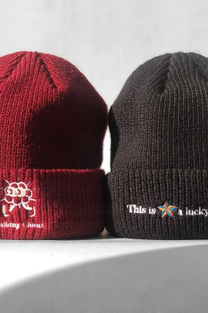"Image of ""This is a Lucky Beanie."" Embroidery Beanie"