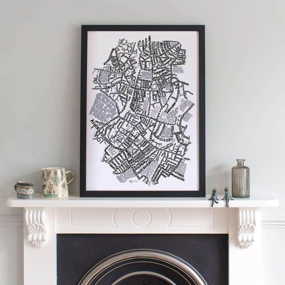 Image of Sydenham SE26, Penge & Anerley SE20  - SE London Type Map