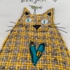 Love Cats -Bonjour with bird  original artwork