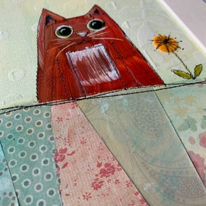Image of Love Cats original artwork ginger Tom