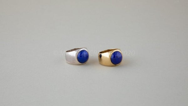 Image of 12mm Lapis Ring