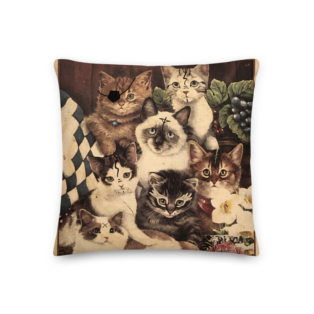 Image of RUNE ARMY CAT CLUB Premium Pillow