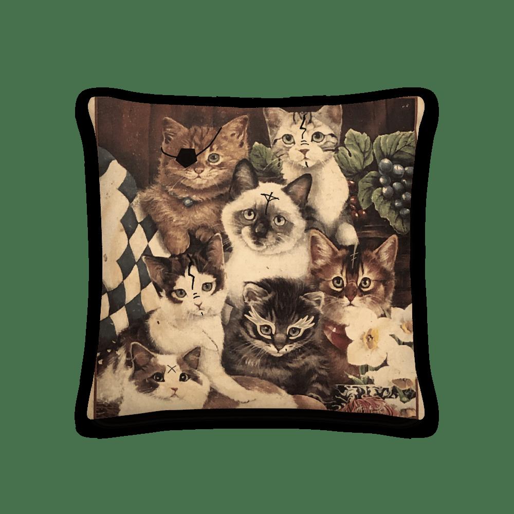 Image of RUNE ARMY CAT CLUB Premium Pillow