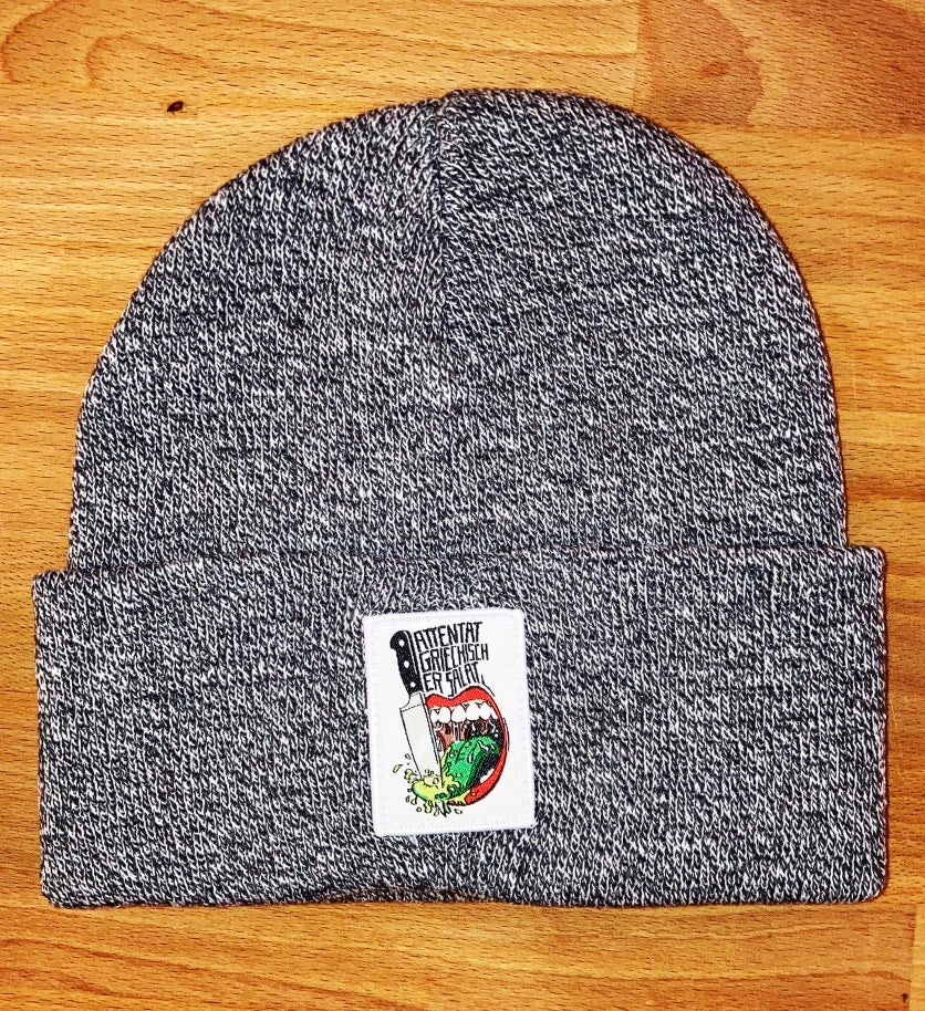Image of Attentat Support your local Gastro Beanie in heathergrey!