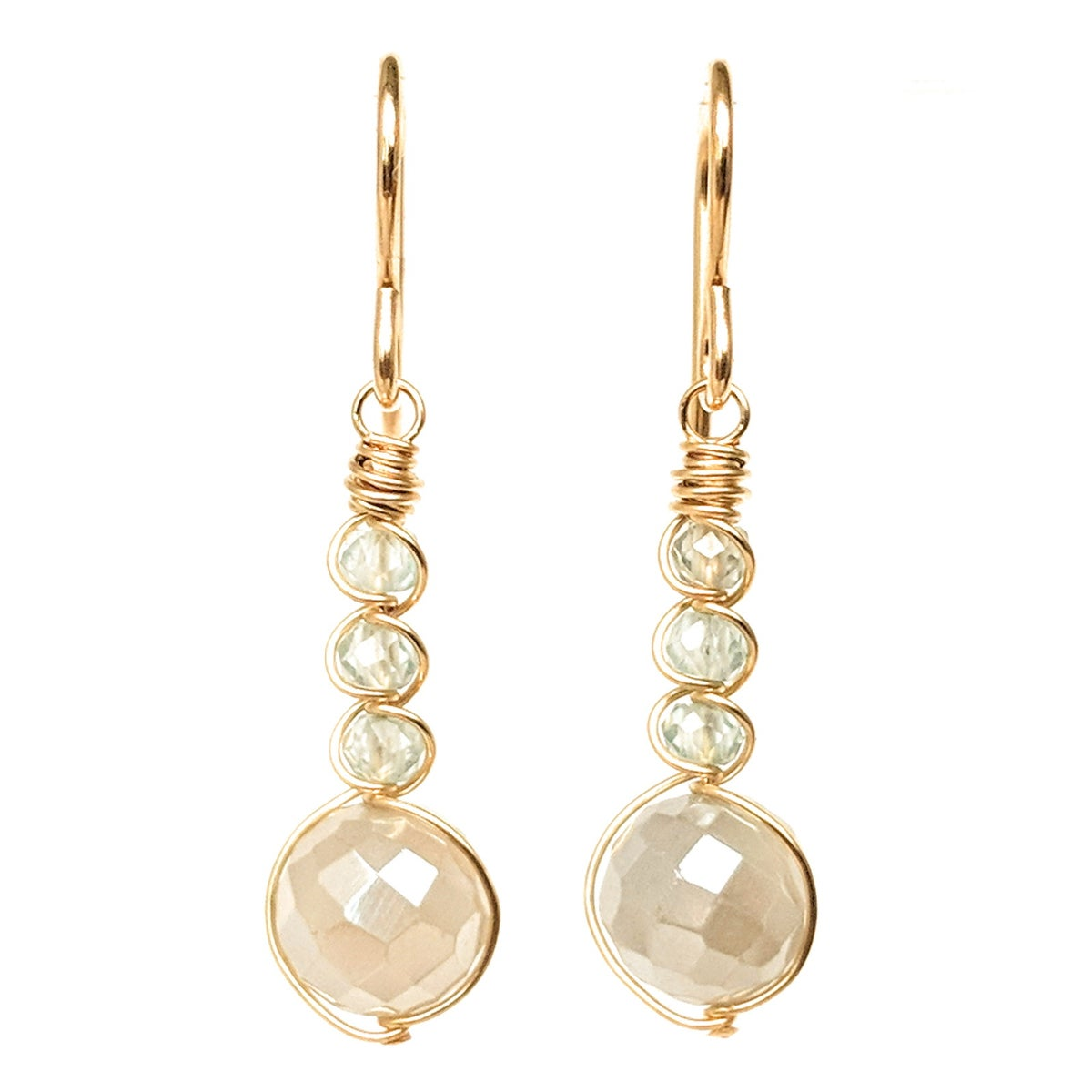 Image of Gray Moonstone Earrings