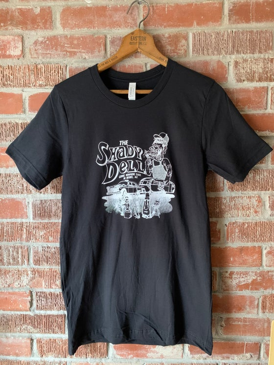 Image of Black Tee with NEW Design in White