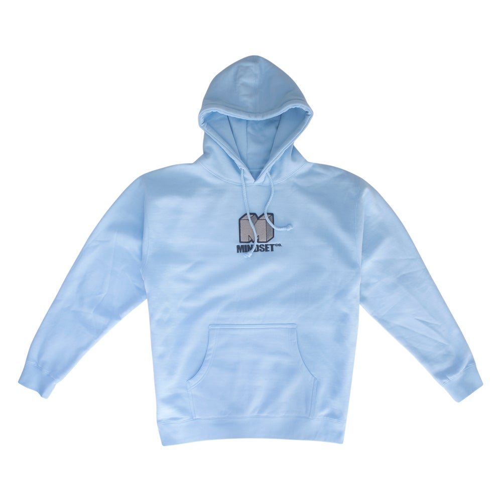 Image of Chenille Patch Hoodie (Powder Blue)