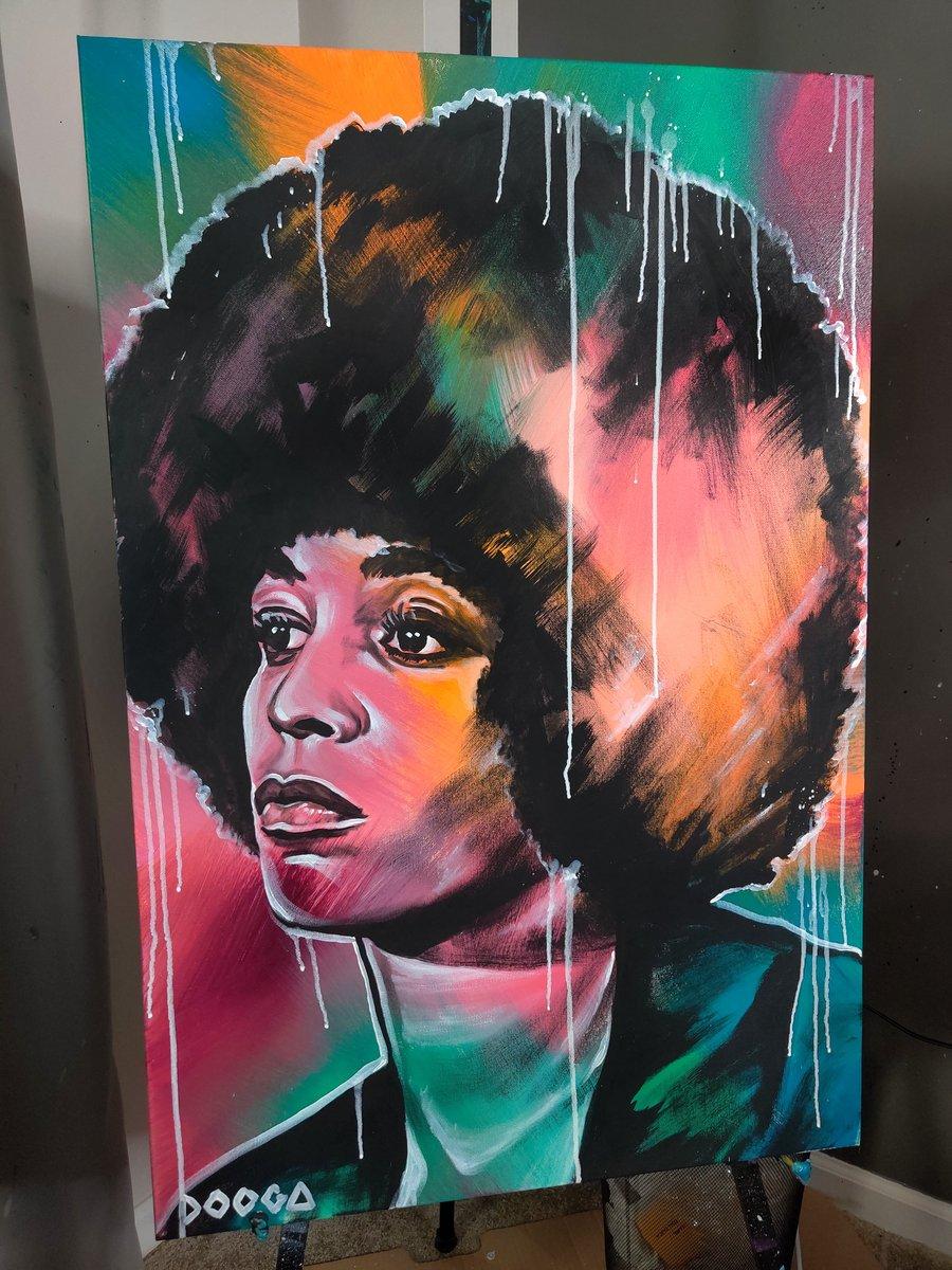 Image of Angela Davis - Canvas Print