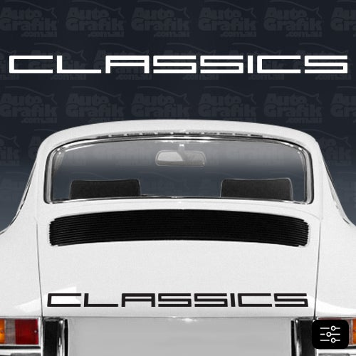 Image of CLASSIC-S TYPE ENGINE LID DECAL - YOUR CUSTOM TEXT