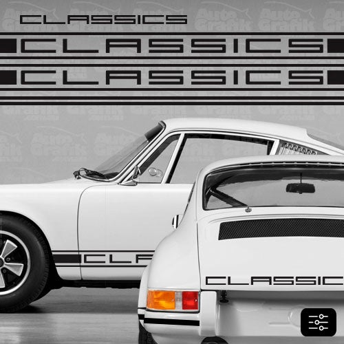 Image of CLASSIC-S TYPE COMPLETE DECAL KIT - YOUR CUSTOM TEXT
