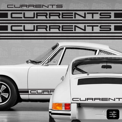 Image of CURRENT-S TYPE COMPLETE DECAL KIT - YOUR CUSTOM TEXT