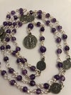 Seven Sorrows Rosary | Sterling and Amethyst