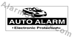 Image of 4 Auto Alarm Stickers
