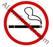 Image of 4 No Smoking Stickers