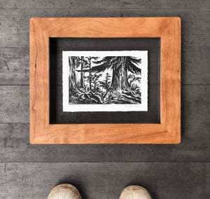 In The Forest Framed in Salvaged Cherry