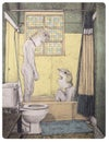 BATHERS  | Hand Pulled Lithograph