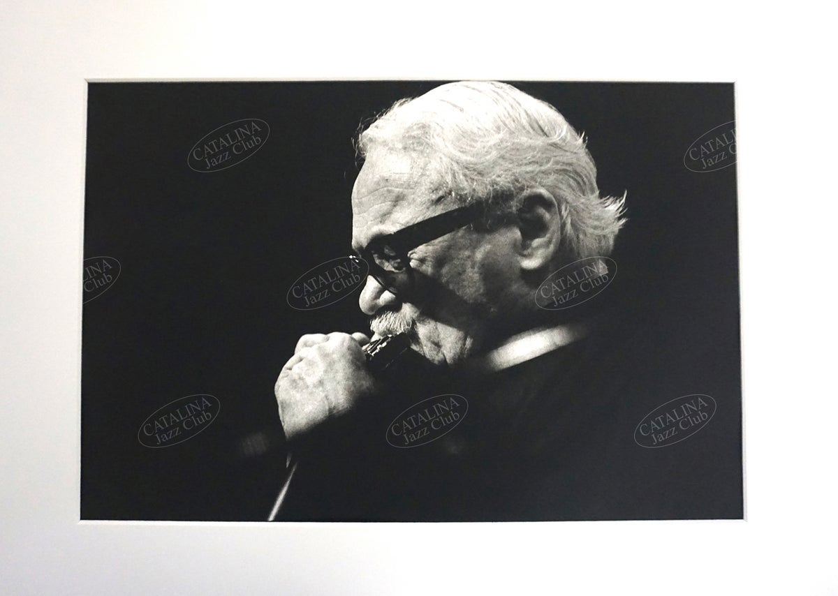 Image of TOOTS THIELEMANS @ Catalina Jazz Club, Hollywood (B&W, circa 1980's) | Limited Edition Photography