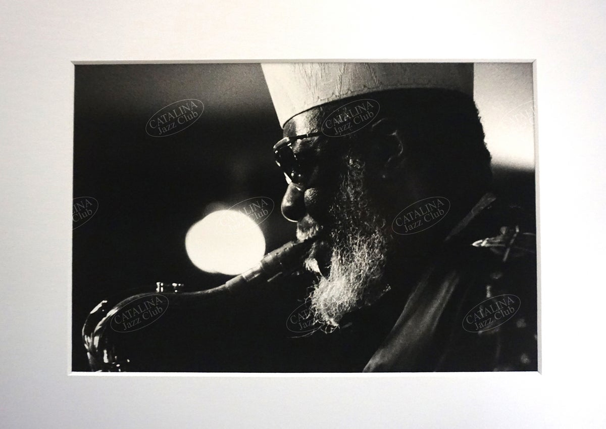 Image of PHAROAH SANDERS @ Catalina Jazz Club, Hollywood (B&W, circa 1980's) | Limited Edition Photography