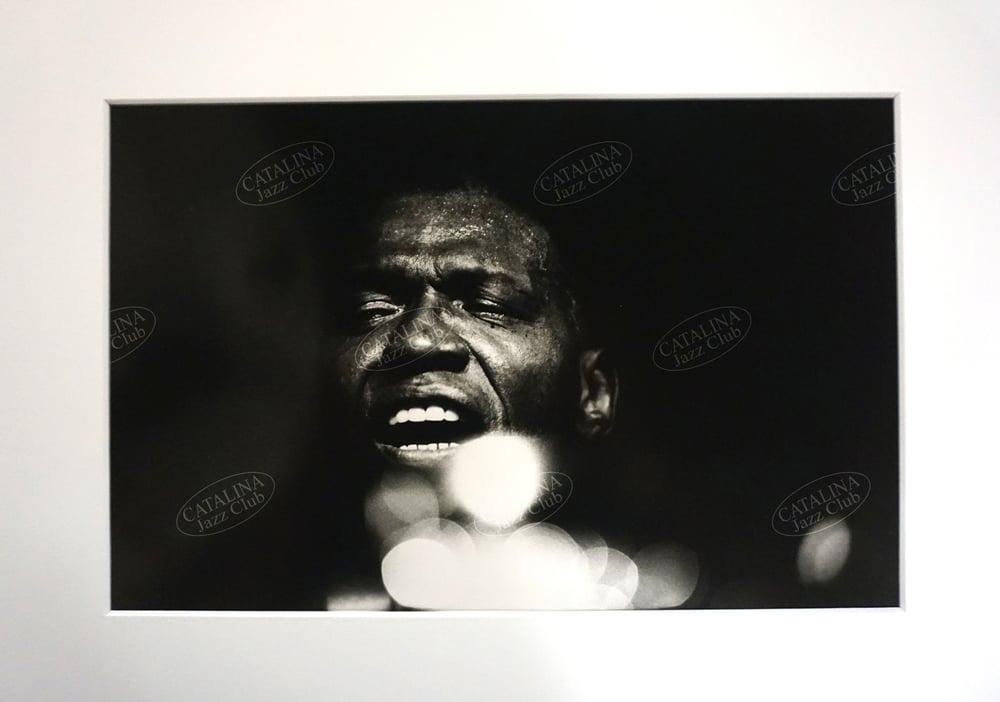 Image of ELVIN JONES @ Catalina Jazz Club, Hollywood (B&W, circa 1980's) | Limited Edition Photography