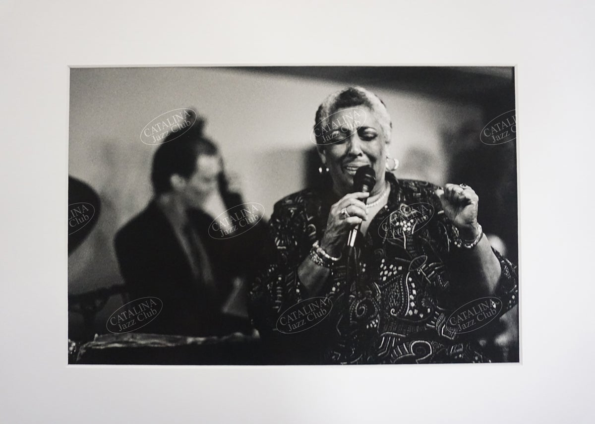 Image of CARMEN McRAE @ Catalina Jazz Club, Hollywood (B&W, circa 1980's) | Limited Edition Photography