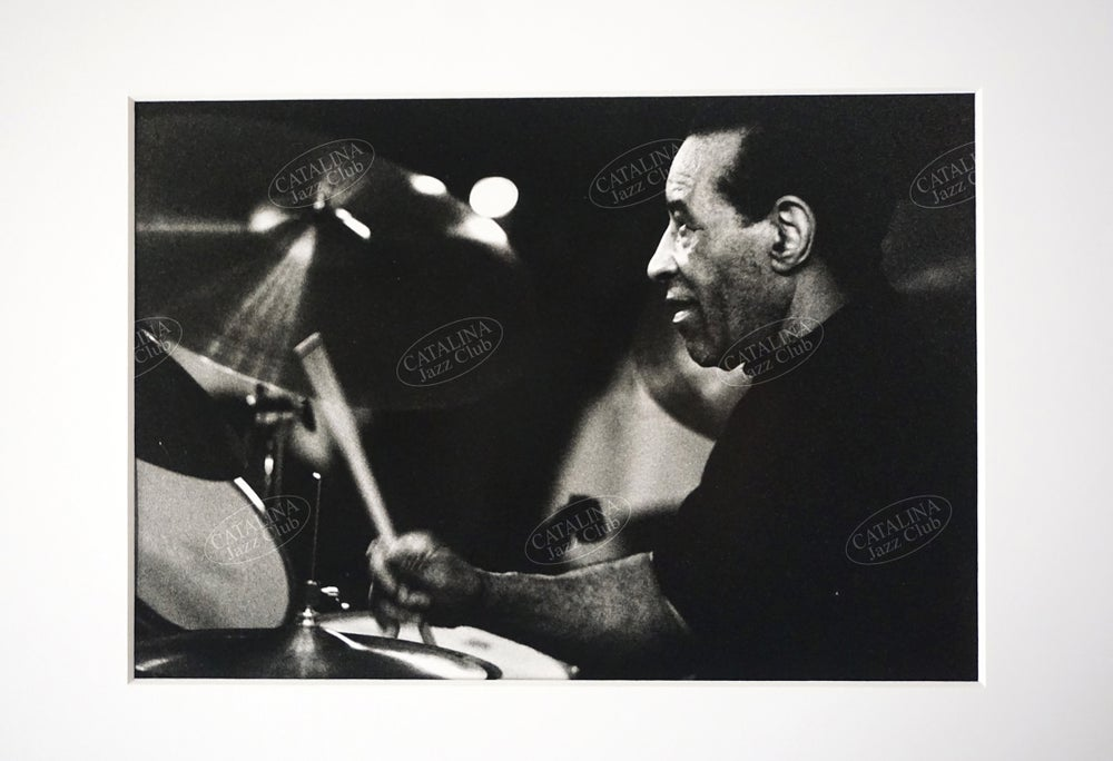 Image of MAX ROACH @ Catalina Jazz Club, Hollywood (B&W, circa 1980's) | Limited Edition Photography