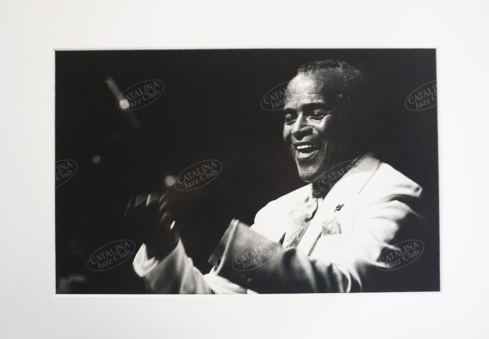 Image of JON HENDRICKS @ Catalina Jazz Club, Hollywood (B&W, circa 1980's) | Limited Edition Photography