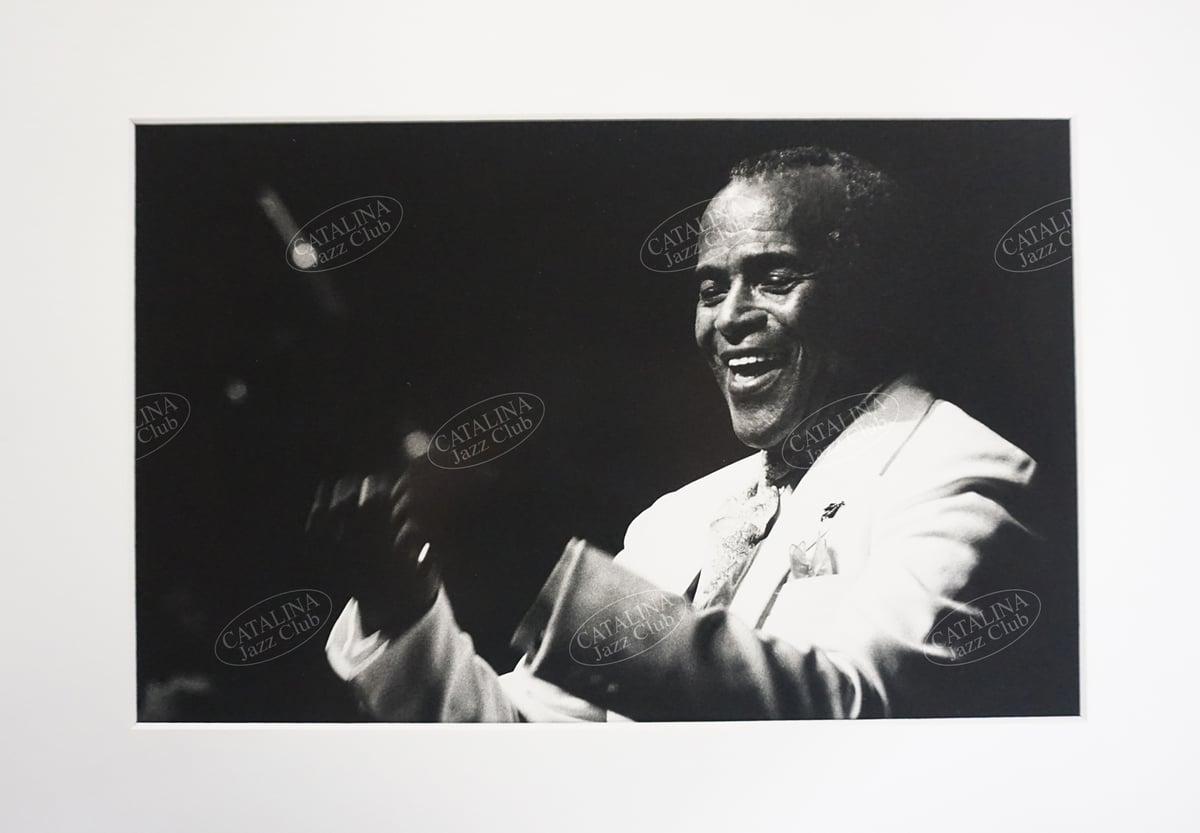 Image of JON HENDRICKS @ Catalina Jazz Club, Hollywood (B&W, circa 1980's)   Limited Edition Photography