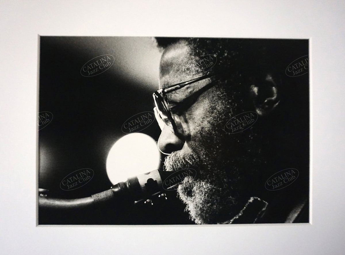 Image of JOE HENDERSON @ Catalina Jazz Club, Hollywood (B&W, circa 1980's) | Limited Edition Photography