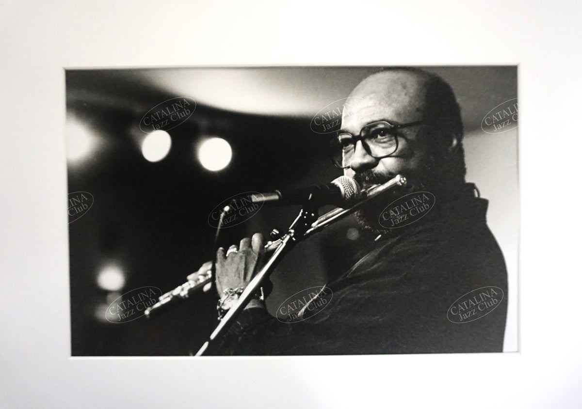 Image of JAMES MOODY @ Catalina Jazz Club, Hollywood (B&W, circa 1980's) | Limited Edition Photography