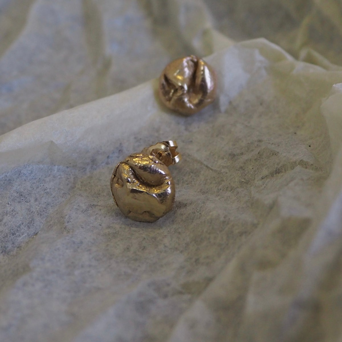 Image of Mini Uisce Studs in Gold
