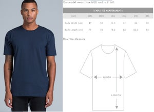 Image of Men's Five Peaks Cotton T-shirt - Indigo
