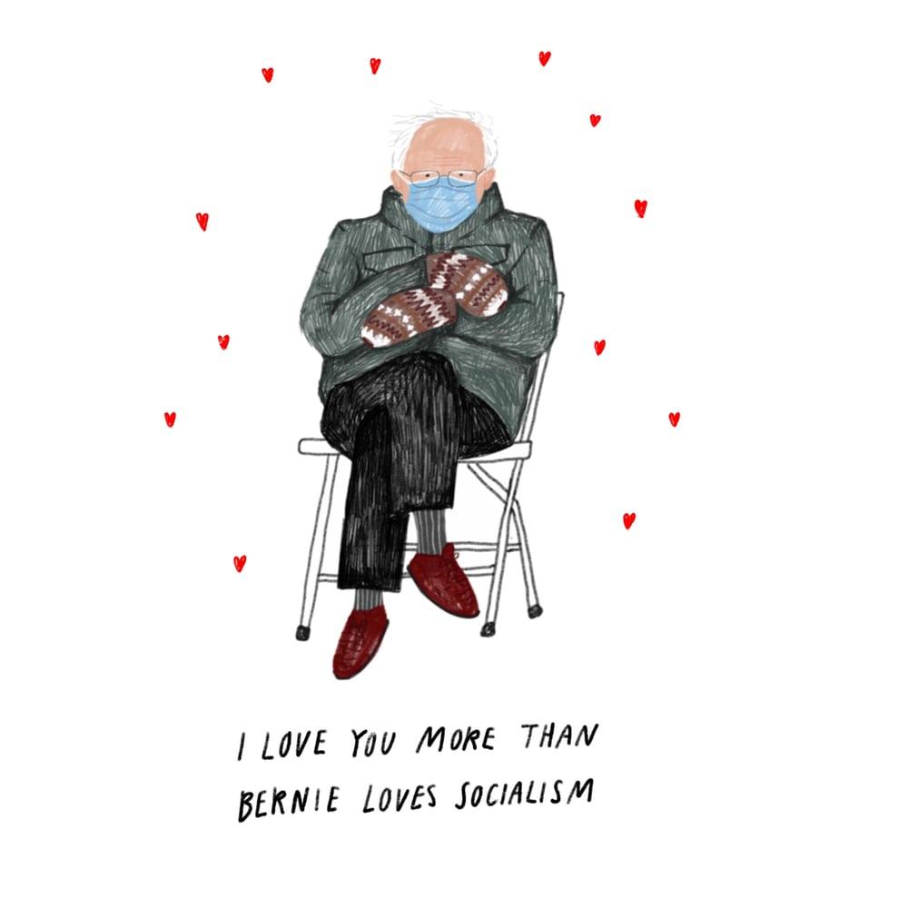 Image of Bernie Sanders Socialism Valentine's Card