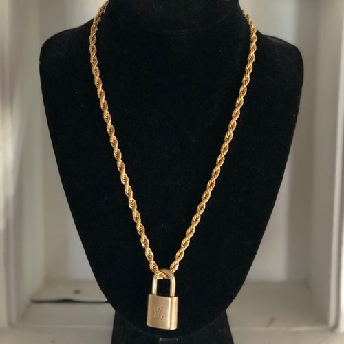 Image of Upcycled Vintage Louis Vuitton Lock Necklace