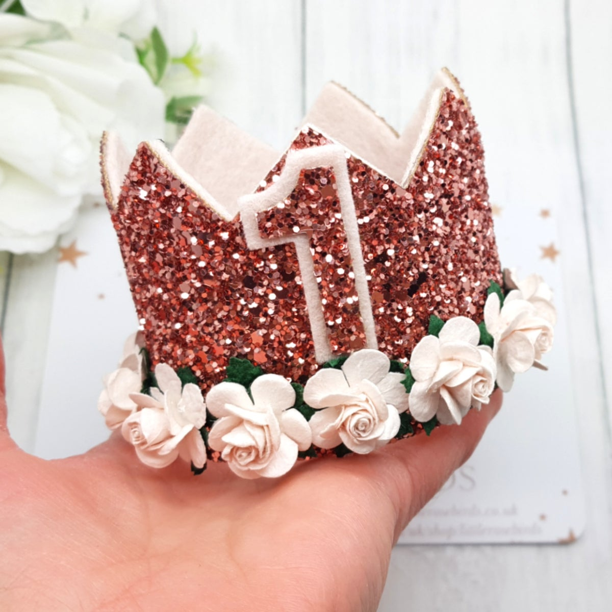 Image of Rose Gold Birthday Crown - Any Age