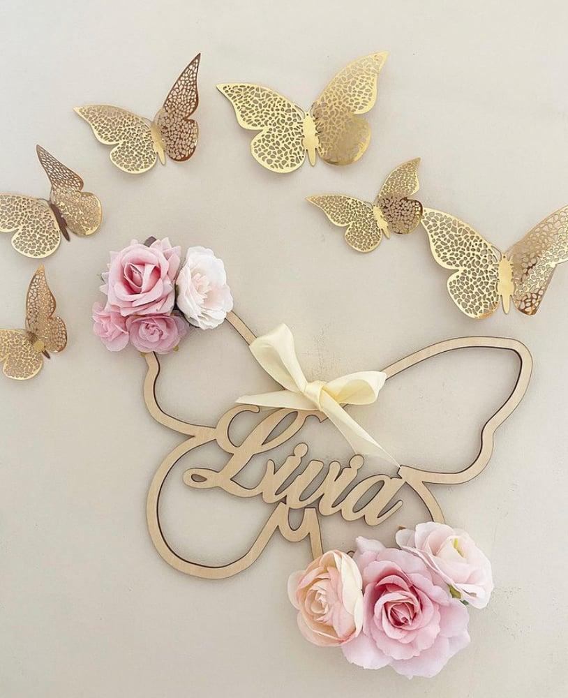 Image of Papillons fleuris 35cm