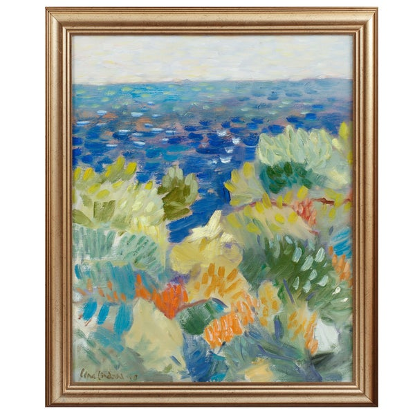 Image of Late 20th Century Painting, Seascape LENA LINDAHL