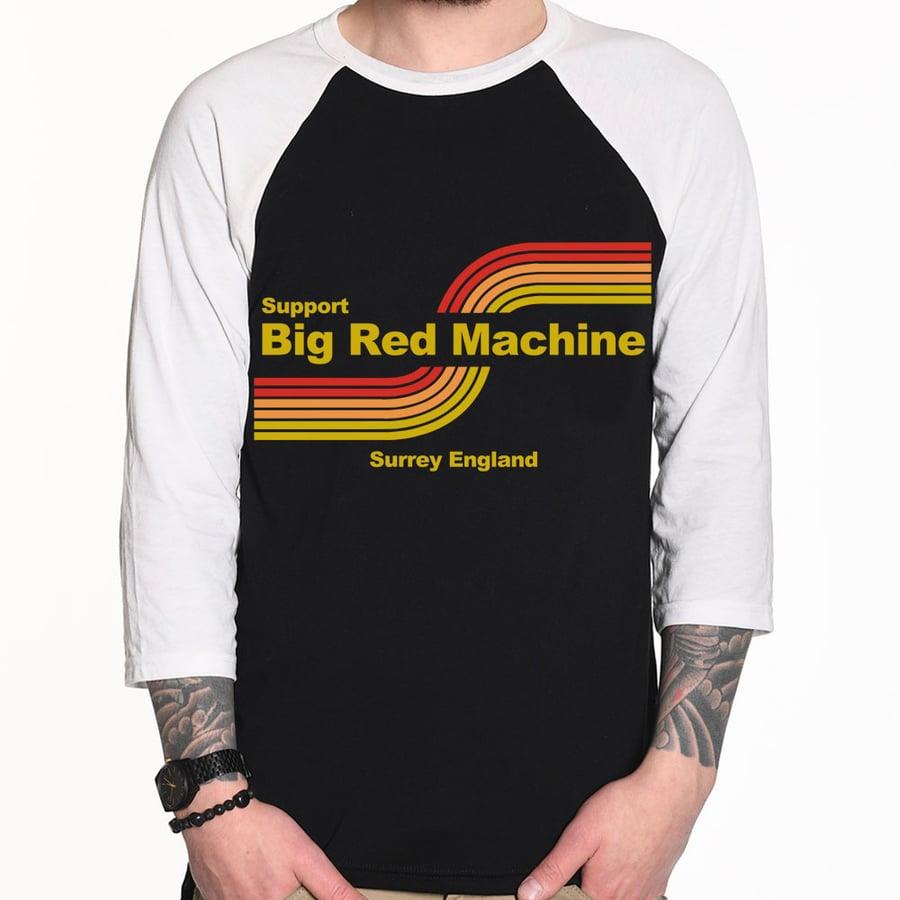 Image of BRM Racing Red/Orange/Yellow Baseball 3/4 Shirt