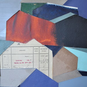 Image of 2021 Mixed Media Collage 'The Nine Barns' Marc Taylor