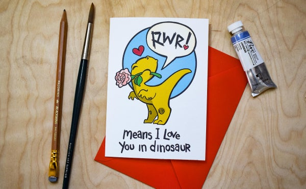 Image of Rwr Means I love you - Card