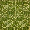 Bolinas in Green on Fine Moygashel Linen
