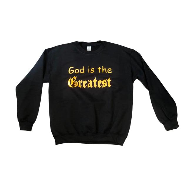 "Black/Orange ""God is the Greatest"" Sweater"