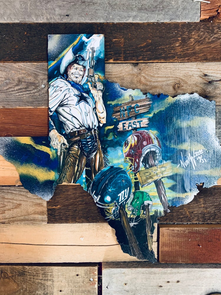 """Image of """"How about Dem Cowboys """"( Hand Painted Reproduction)"""