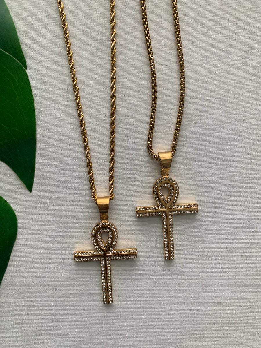 Image of SPIRIT • CZ Ankh Necklace