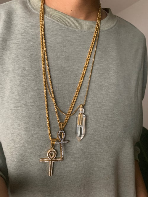Image of PALACE • CZ Ankh Necklace