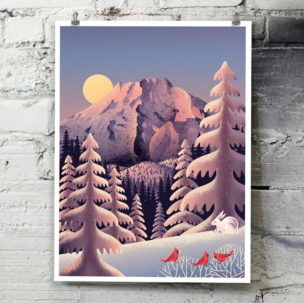Image of Snow Cap art print
