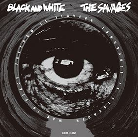 """Image of BLACK AND WHITE /THE SAVAGES Split 7"""" EP W/ Export sleeve"""