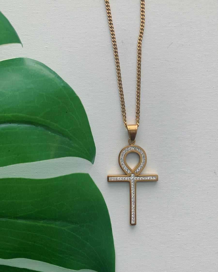 Image of IFE • CZ Ankh Necklace